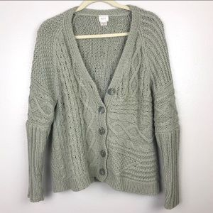 Alps | Vintage Sweater Cable Cozy Knit Cardigan M